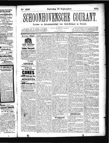 Schoonhovensche Courant 1910-09-10