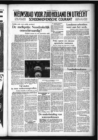 Schoonhovensche Courant 1954-11-01