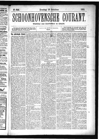 Schoonhovensche Courant 1881-10-16