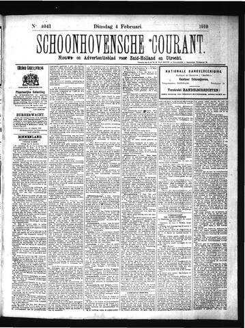 Schoonhovensche Courant 1919-02-04