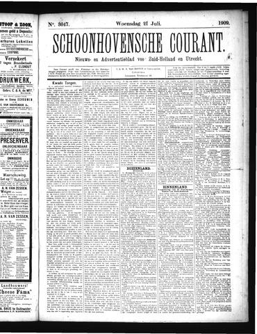 Schoonhovensche Courant 1909-07-21