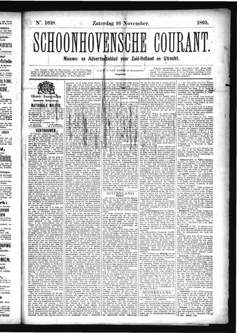 Schoonhovensche Courant 1895-11-16
