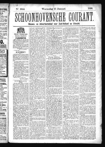 Schoonhovensche Courant 1896-01-15