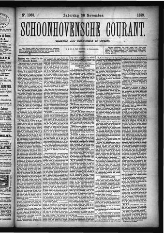 Schoonhovensche Courant 1889-11-30