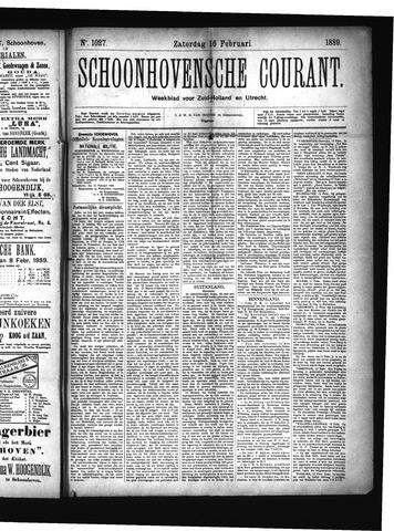 Schoonhovensche Courant 1889-02-16