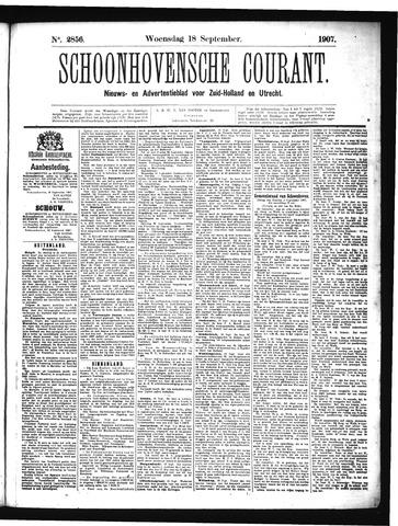 Schoonhovensche Courant 1907-09-18