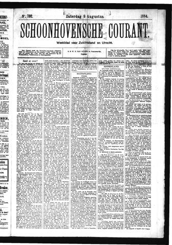 Schoonhovensche Courant 1884-08-09