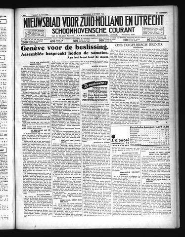 Schoonhovensche Courant 1935-10-09