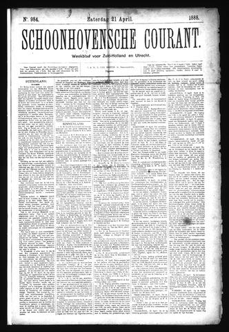 Schoonhovensche Courant 1888-04-21