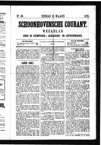 Schoonhovensche Courant 1871-03-12