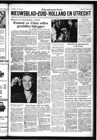 Schoonhovensche Courant 1963-02-11