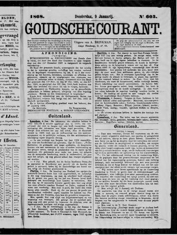 Goudsche Courant 1868-01-09