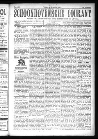 Schoonhovensche Courant 1922-11-03