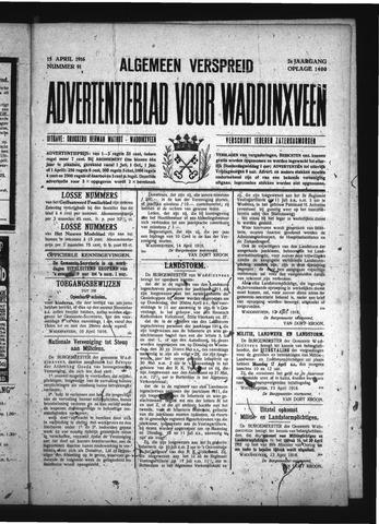 Advertentieblad Waddinxveen 1916-04-15