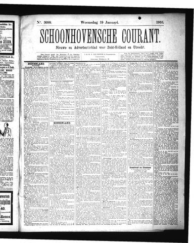 Schoonhovensche Courant 1910-01-19