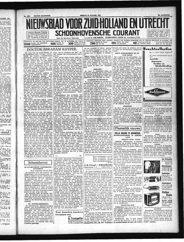 Schoonhovensche Courant 1937-10-29