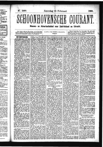 Schoonhovensche Courant 1899-02-25