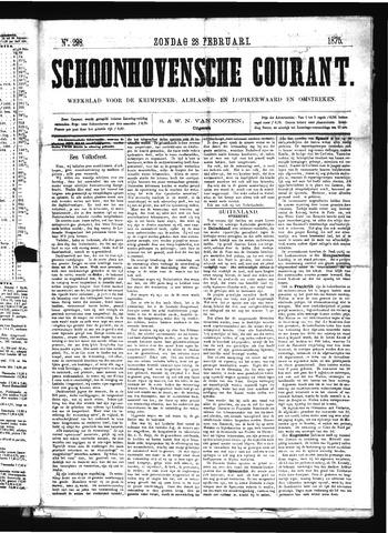 Schoonhovensche Courant 1875-02-28
