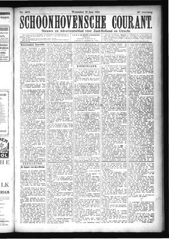 Schoonhovensche Courant 1923-06-20
