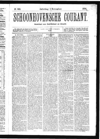 Schoonhovensche Courant 1884-11-01