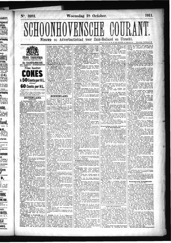 Schoonhovensche Courant 1911-10-18