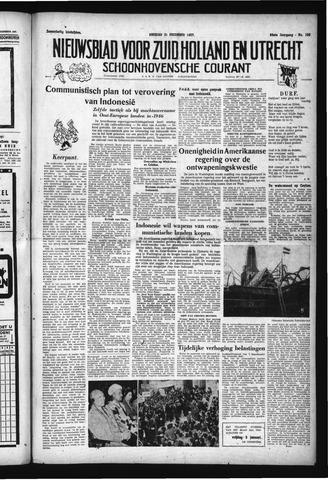 Schoonhovensche Courant 1957-12-31