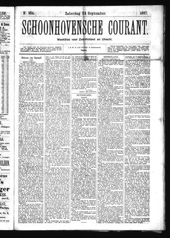 Schoonhovensche Courant 1887-09-24