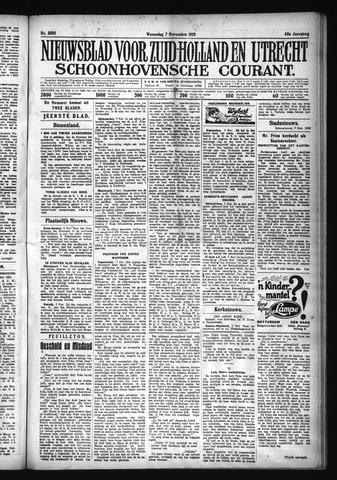 Schoonhovensche Courant 1928-11-07