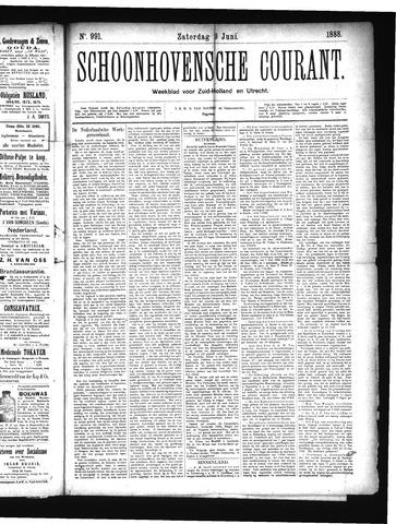 Schoonhovensche Courant 1888-06-09
