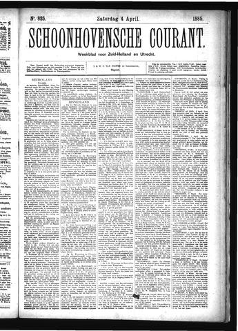 Schoonhovensche Courant 1885-04-04
