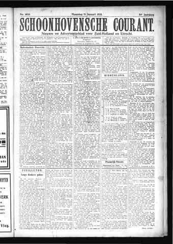 Schoonhovensche Courant 1923-01-15