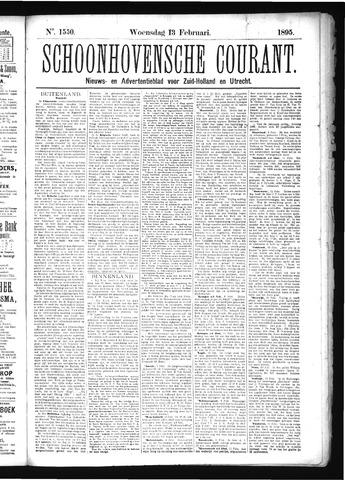 Schoonhovensche Courant 1895-02-13