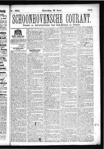 Schoonhovensche Courant 1912-06-29