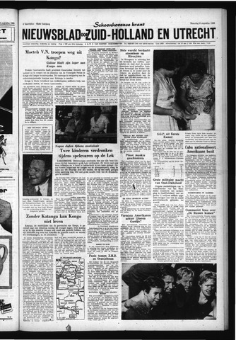 Schoonhovensche Courant 1960-08-08