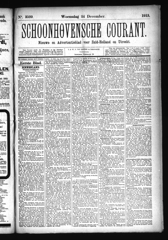 Schoonhovensche Courant 1913-12-24