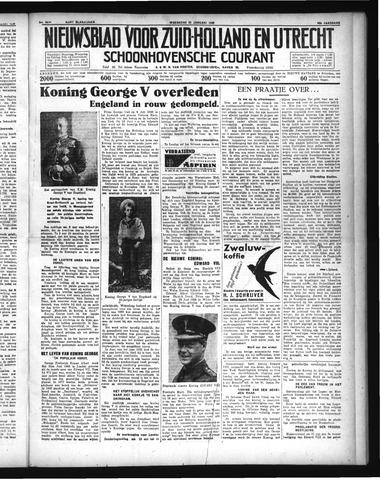 Schoonhovensche Courant 1936-01-22