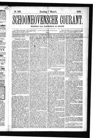 Schoonhovensche Courant 1880-03-07