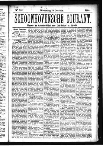 Schoonhovensche Courant 1898-10-19