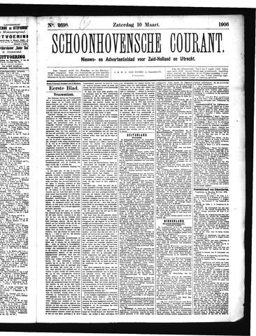 Schoonhovensche Courant 1906-03-10