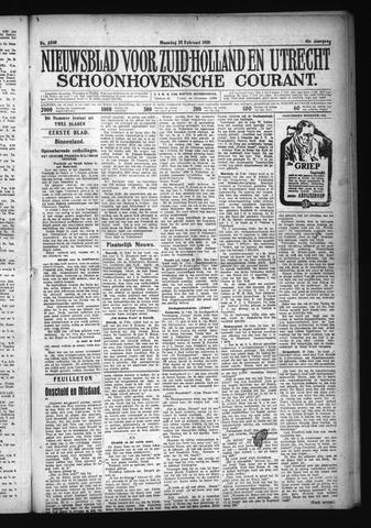 Schoonhovensche Courant 1929-02-25