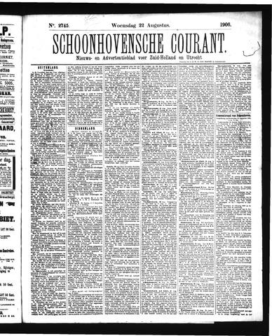 Schoonhovensche Courant 1906-08-22