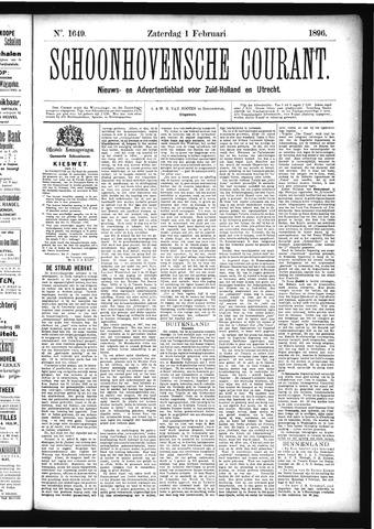 Schoonhovensche Courant 1896-02-01