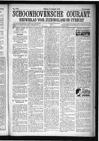 Schoonhovensche Courant 1927-01-14