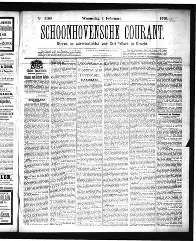 Schoonhovensche Courant 1910-02-02