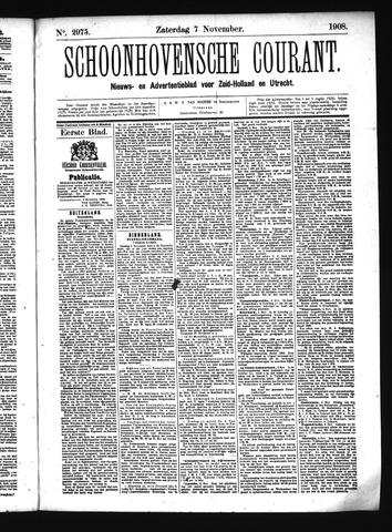 Schoonhovensche Courant 1908-11-07