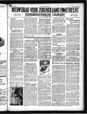 Schoonhovensche Courant 1950-10-09