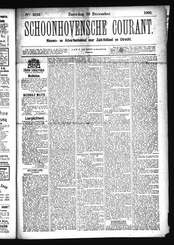 Schoonhovensche Courant 1900-12-29
