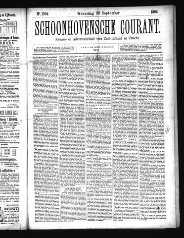 Schoonhovensche Courant 1892-09-28