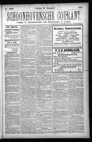 Schoonhovensche Courant 1918-01-25