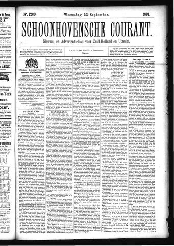 Schoonhovensche Courant 1891-09-23